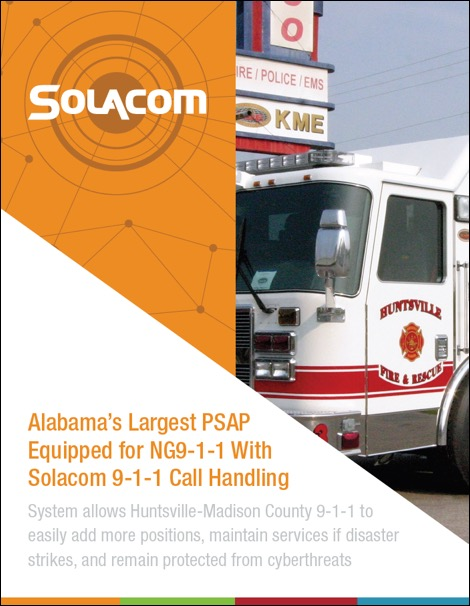 Alabama's Largest PSAP Equipped for NG9-1-1 With Solacom 9-1-1 Call Handling