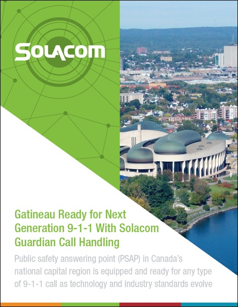 Gatineau Ready for Next Generation 9-1-1 With Solacom Guardian Call Handling