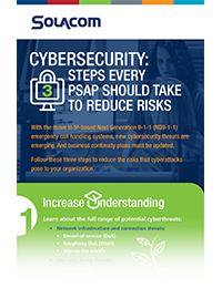 Cybersecurity: 3 Steps Every PSAP Should Take to Reduce Risks